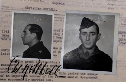 Christian Rottbøll alias RASMUSSEN, RASK / Killed in Copenhagen Sept. 26th 1942.